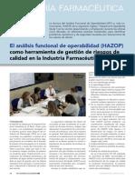 Articulo El Analisis Funcional de Operabilidad Hazop Www.farmaindustrial.com