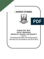Syllabus for Regular Student Sem I & II