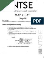 NTSE Stage II Sample Paper for NTS Aspirants