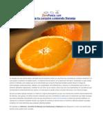 Proteje Tu Corazón Comiendo Naranja
