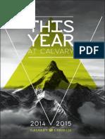 This Year At Calvary 2014/2015