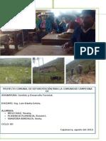 Proyecto Comunal de Reforestacion