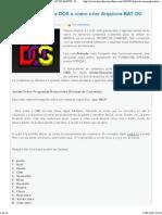 Lista de Comandos DOS e Como Criar Arquivos BAT OU BATCH - Descubra Como Fazer