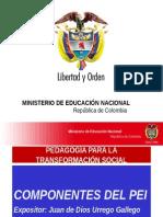 Men Componentes del Proyecto Educativo Inistiucional