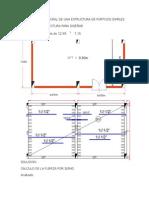 Diseño Estructural de Estructura de Pórticos Simples