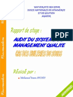 Audit Du Systeme de Management Qualite Hsb