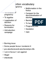 Abortion Vocabulary