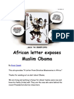 59431833 is Obama a Muslim African Letter Exposes Muslim Obama Obama is a Tribal Ugandan Kenyan With Indonesia Dual Citizenship He Was Not Born in Ame