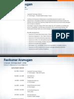 Ravikumar Arumugam Portfolio 2015 Online