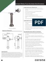 Manual del fabricante Fluxometro Corona