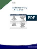 Actitudes Positivas y Negativas