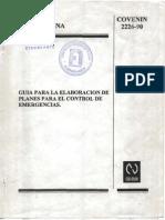 Guia Para La Elaboracion de Planes Para El Control de Emergencias