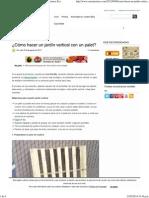 ¿Cómo Hacer Un Jardín Vertical Con Un Palet_ _ Conciencia Eco