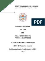 Punjab UNiversity MSc Hons. School Physics Electronics