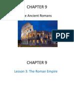 chapter 9- the ancient romans- lesson 3 2