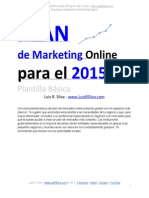 Plan de Marketing Online de Una Empresa Ejemplo Plantilla