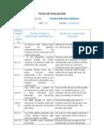 Fichas de Evaluación.