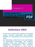Human Resource Information Management System (Hris)