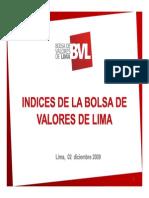 Analisis de Los Indices de La Bvl