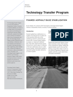 Foamed Asphalt Base Stabilization - University of California Berkeley