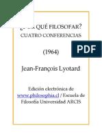 Lyotard - Por Qué Filosofar