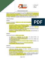 Código Deontológico - Director de Proyectos