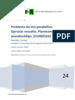CU00252A Ejercicio resuelto tiro parabolico planteamiento pseudocodigo.pdf