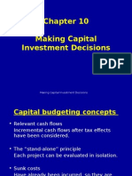 Ch 10 - Making Capital Investment Decisions