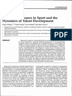 Expert Performance in Sport and the Dynamics of Talent Development