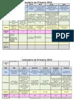 Calendario de Primaria 2010