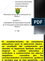 estandares de desempeo docente en el aula panorama de la educacion actual en mexico