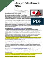Alerte Plutonium Fukushima 3 MOX Et INTOX 16-03-2011