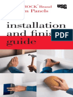 Sheetrock Gypsum Panels Installation Guide