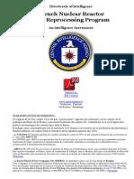 CIA Et Plutonium Rapport Programme de Retraitement Du Combustible Des Reacteurs Nucleaires Francais VFr 21-04-2011