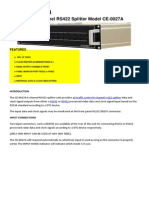 Cescom Enterprises Pty Ltd - 8 Channel RS422 Splitter Model CE-0027A