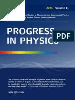 Progress in Physics, Vol. 1, 2015