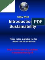 Intro to Sustainability