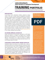 PsyAsia International HRM & I-O Psychology Training Portfolio
