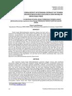 An Antihyperuricemia Effect Of Tunjuk Langit (Helminthosachys zaylanica Linn Hook)