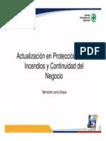 Actualizacion en Proteccion Contra Incendios y Continuidad Del Negocio