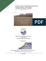 Hartman PlanWetland and Stream Mitigation Plan