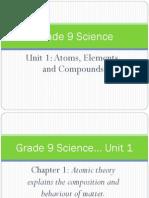 9 unit 2 ch1 slideshow atoms elements compounds