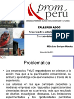 Selección de La Estrategia de Ingreso Al Mercado Internacional Luis Enrique Mendez