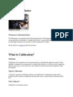Calibration Basics