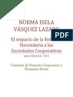 Las Sociedades Cooperativas y La Reforma Hacendaria