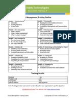 Project Management Training Curriculum