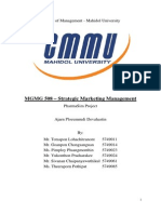 Marketing Management - 17A Pharmasim Report (Group 1)