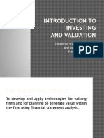 1 an Introduction Investing and Valuation