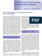ICT for the Economic and Social Development of Rural Communities
