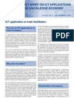 ICT application in trade facilitation